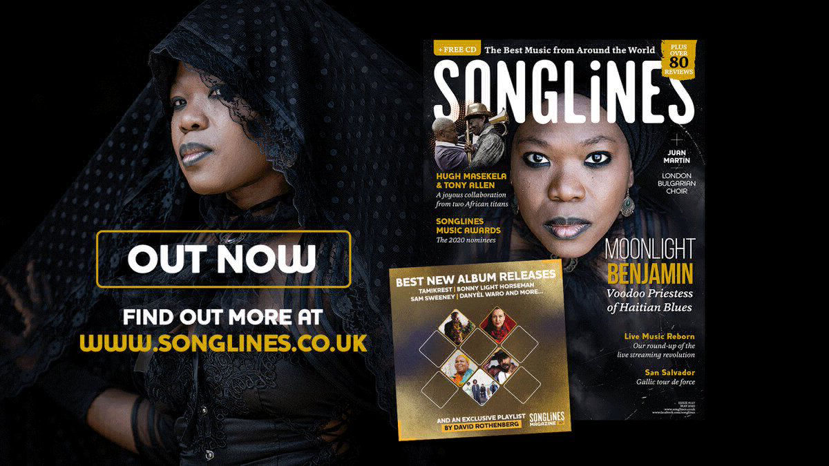 Moonlight Benjamin featured in Songlines UK mag - May 2020